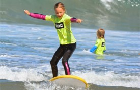 surfing at camp