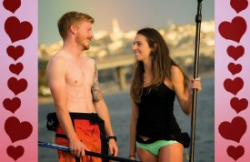 People on a date on SUP'