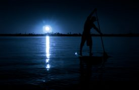 SUP under the moonlight