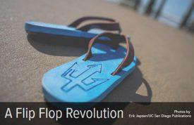 Algae-based flip flops developed at UCSD