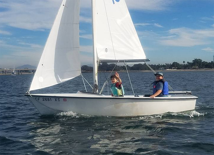 ICS students sailing