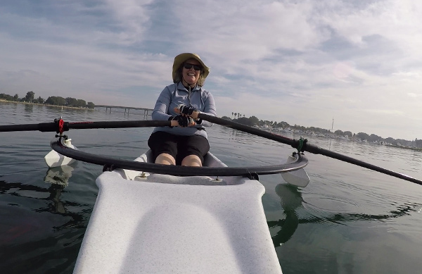 Sculling on the bay