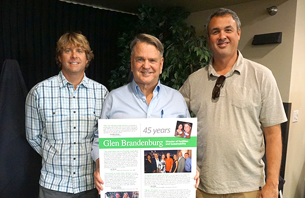 MBAC Director Kevin Straw, Glen Brandenburg, and MBAC Assistant Director, Kevin Waldick.
